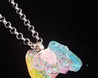 Glitter Kawaii Pastel Candy Floss Controller Necklace