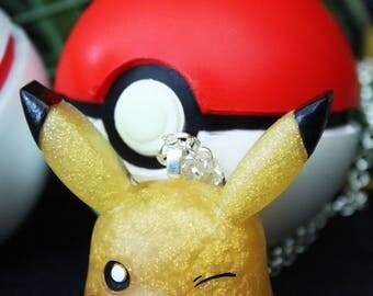 Kawaii Pokemon Pikachu Resin Pendant Necklace