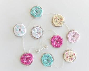 Crochet Donut Garland - Garland - nursery garland - Donut Garland - Donut Bunting