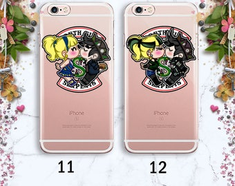 Serpents Jughead Kiss Snake Phone case iPhone X Riverdale case iPhone 8 Riverdale Samsung S8 case iPhone 7 Plus Clear case Silicone case