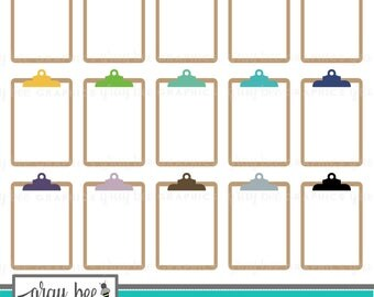 SALE- Clipboard Clipart Set, Commercial Use, Instant Download, Digital Clipart, Digital Images- MP213