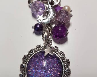 Sparkle Keyring, Keychain, Magical Keyring, Glitter Keyring, Stars, Fairies, Moon, Space, Unicorn, Rainbow, Mermaid