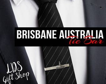 Brisbane Australia Temple Tie Bar Silver or Gold