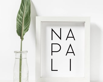 Napali Print, Napali Coast, Kauai Art, Kauai Prints, Hawaiian Decor, Modern Wall Art, Printable Wall Art, Home Decor, Hawaiian Art Posters,