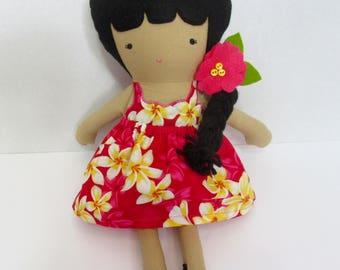Fabric doll, Rag doll, Handmade- Alani