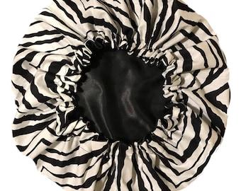 Zebra Satin Bonnet
