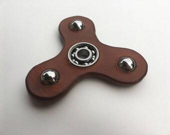 Fidget Spinner Natural Leather
