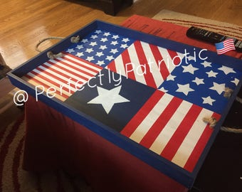Hand Made/Hand Painted Patriotic Tray