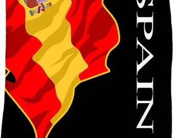 Spain Custom Flag Fleece Blanket
