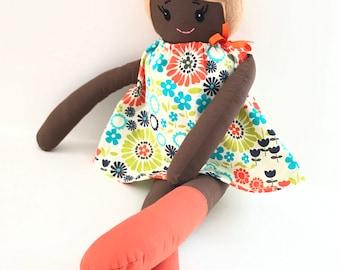 Mia ArieDollies Doll  Handmade Doll  Rag Doll  Soft Doll  Fabric Doll  Cloth Doll  Nursery Decor  Kids Decor