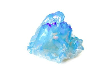 SALE Angel Aura Quartz Crystal Cluster Baby Blue 64g