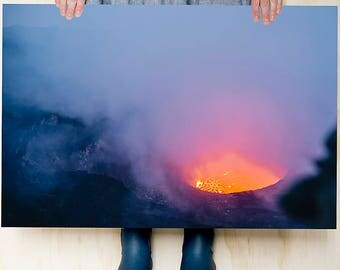 Virunga Volcano Series. Adventure. Wanderlust.Large photo print. Wall art. Bedroom decoration. Colour photographic print
