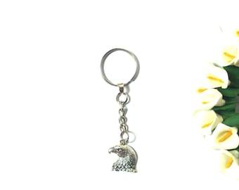 Keychain Eagle / Eagle - Keychain Men - Keyring Silver - Keyring Women - Keyring Bird - Keyring Animal