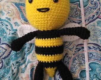 Crochet amigurumi cute bee toy stuffed animals