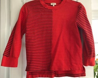 Vintage Red Striped Kenzo Shirt  with Three Quarter Length Sleeves
