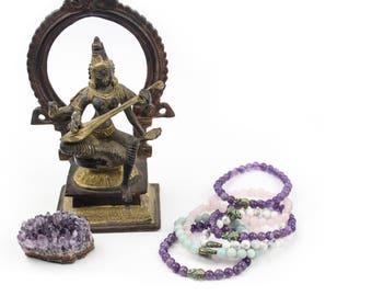 Tiny Ganesha Gemstone Bracelet