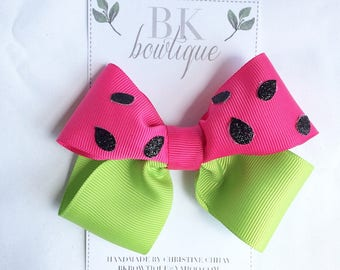 Watermelon Twisted Boutique Hair Bow