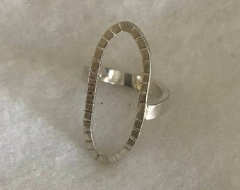 Silver Oval Ring
