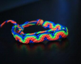 Neon Wave Friendship Bracelet