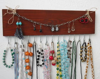 Jewelry holder wall, necklace holder, jewelry rack, jewelry organizer, Jewelry Display, Necklace Wall Rack