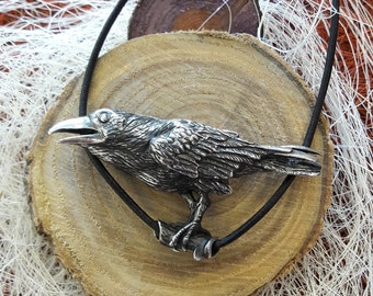 The Raven as a power animal, pendant in 925 sterling silver