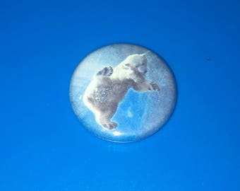 "Polar Bear Artic Ice Winter {A2019} 1"" Pin Badge Pinback"