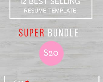 Sales Resume Example Pdf Resume Template Mac  Etsy Sample Scholarship Resume with Resume Builder For Teens Excel  Off Professional Resume Template Resume Bundle Cv Template Ms Word  For How To Make Good Resume Word