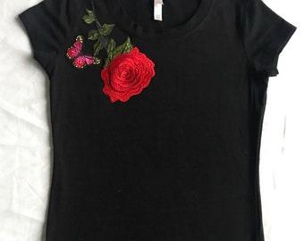 Handmade, embroidered designer Tee