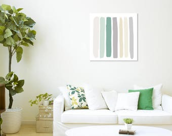 """Unfinished-Style Canvas Wall Art in """"Beach Waves"""""""