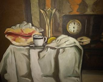Still Life Oil on Canvas, Unframed