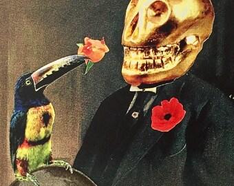 Skull Portrait Postcard