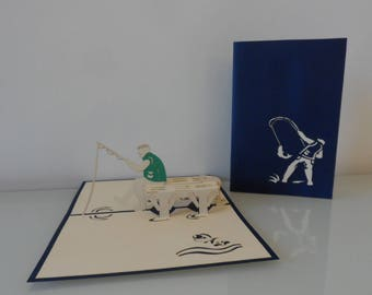 Fisherman Pop up Card