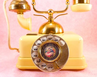 Vintage French-style rotary phone
