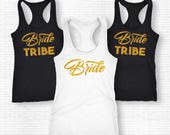 Bride Tribe Set Of Tanks Bride Tribe Tank Tops Bride Tribe Shirts For Bachelorette Party Engagement Party Shirts