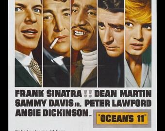 """Poster """"Ocean eleven"""" vintage movie poster."""