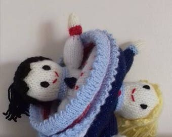 TopsyTurvy Knitted Princess Doll