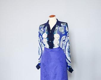Viscose blouse-blouse-Chemise-over size-Vintage tunic-Long  Blouse