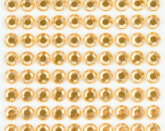 3 Sheets - Clear 8mm Adhesive Rhinestone Dot Sticker