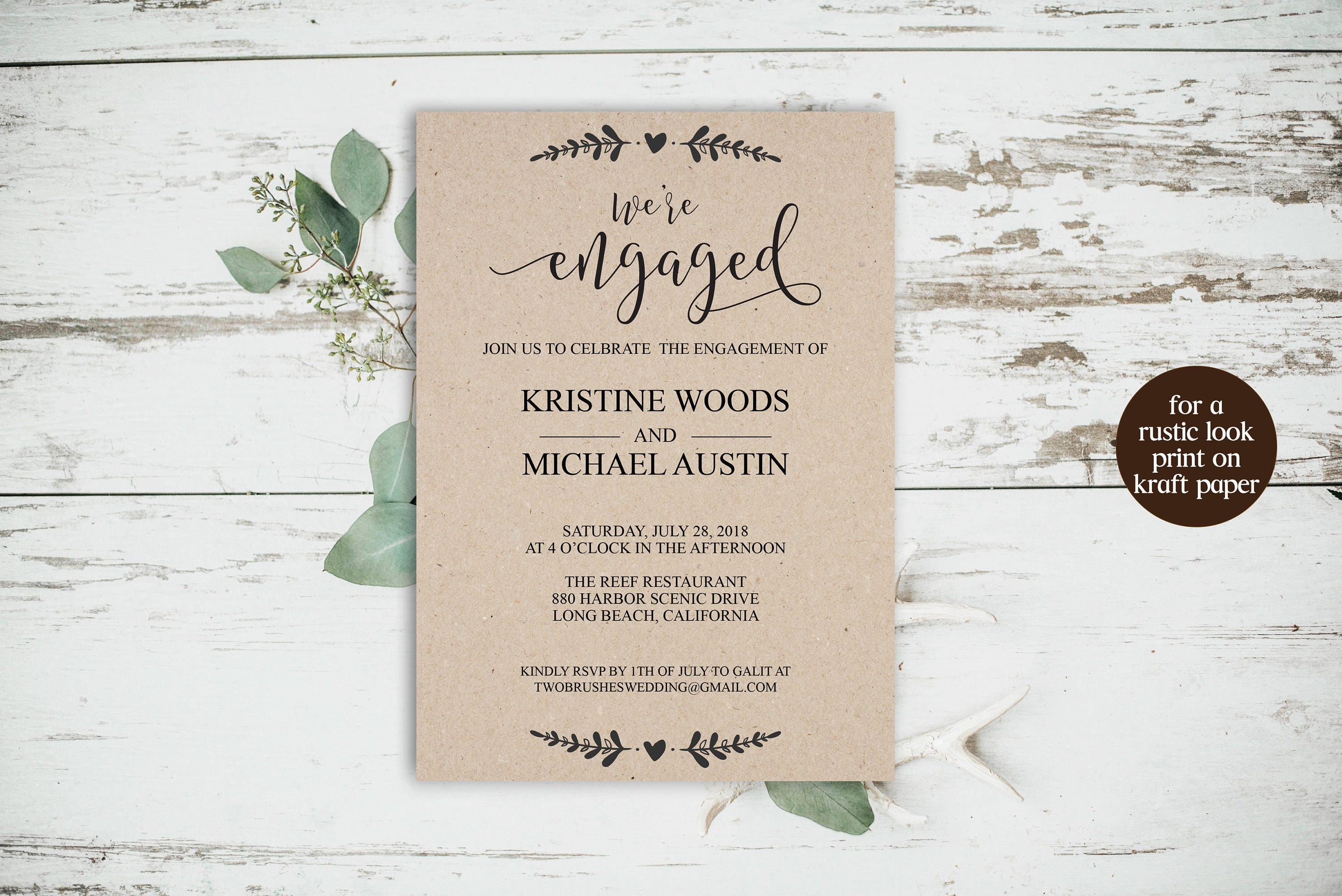 We\'re Engaged, We\'re Engaged Invitation, Engagement Party ...
