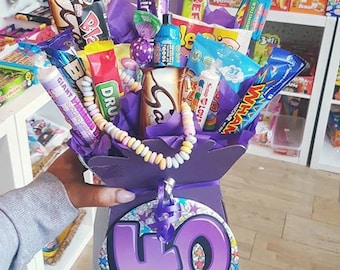 40th Birthday Retro Sweet & Chocolate Bouquet
