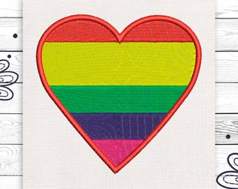 LGBT Love Embroidery design Machine embroidery design 4 sizes INSTANT DOWNLOAD EE5095