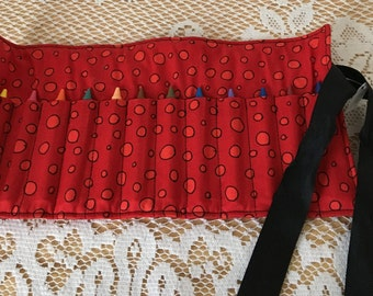 Red Crayon Roll-up