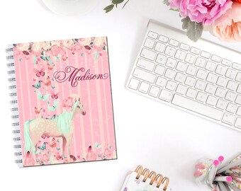 Butterfly Unicorn Planner Cover Personalized Monogram Erin Condren Life Planner Recollections A5 Personal Pocket Dashboard Happy Planner B6
