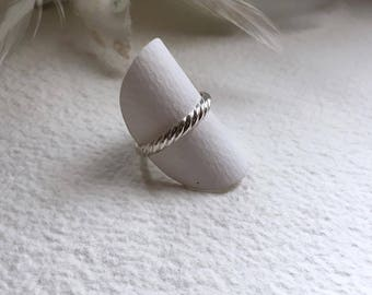 """Silver ring """"Stripes"""", Sterling Silver"""