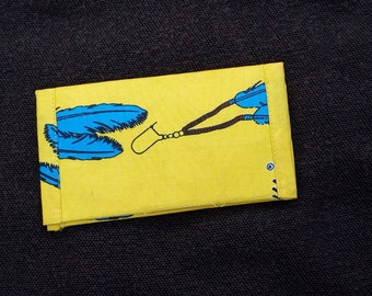 Beautiful yellow African fabric wallet