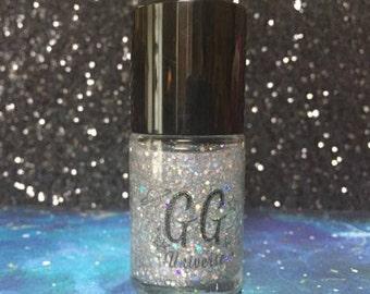 The Big Bang - Silver Holographic Glitter Nail Polish Top Coat