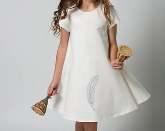 Tween dresses, Girls dresses, Girls clothing, Children Clothing girls, Cream dress, White dress, Childrens clothing