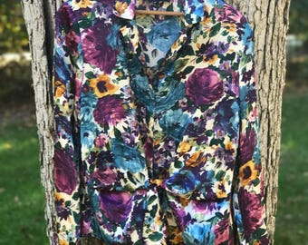 jones new york floral blouse
