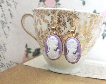 cameo earrings.