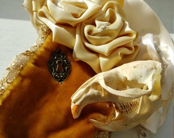 Skull and Rose Fascinator